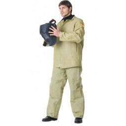 Костюм сварщика БРЕЗЕНТОВЫЙ ОП: куртка+брюки с наколенниками и налокотниками