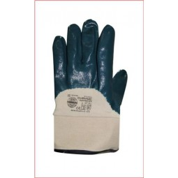 Перчатки с нитриловым покрытием, полуобливные, крага