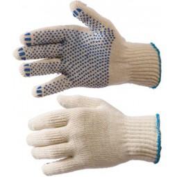 Перчатки трикотажные с ПВХ, 5-ти нитка, хб/пэ, 7,5 класс