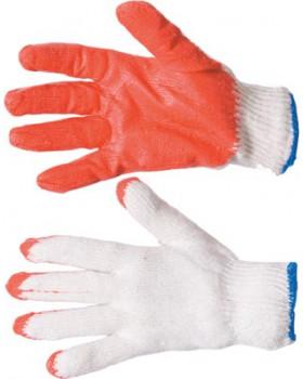 Перчатки трикотажные с латексным покрытием ладони и кончиков