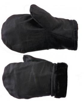 Рукавицы утепленные (верх - диагональ, утеплитель - натуральный мех)