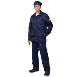 Костюм КЩС лавсановый: куртка+брюки+берет, цвет т.-синий