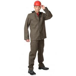 Костюм СУКОННЫЙ КЩС: куртка+брюки, цв. серый (ИВАНОВО)