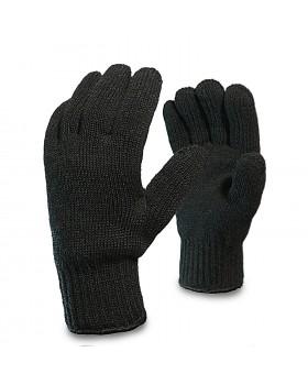 Перчатки утепленные трикотажные полушерстяные двойные