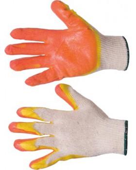 Перчатки трикотажные с двойным латексным покрытием ладони и кончиков пальцев
