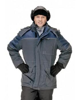 """Куртка утепленная """"Стандарт"""" серый/синий"""