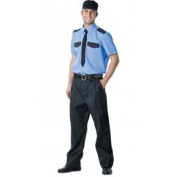 Рубашка охранника короткий рукав, цв синий