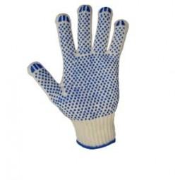 """Перчатки трикотажные с ПВХ """"точка"""", 5-ти нитка, 10 класс, хб/пэ"""