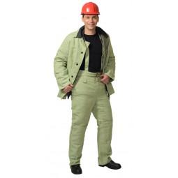 Костюм сварщика БРЕЗЕНТОВЫЙ УТЕПЛЕННЫЙ: куртка+брюки, брезент ОП