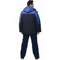 """Куртка утепленная """"ВЕГА"""", цв. т.синий с васильковой отделкой"""