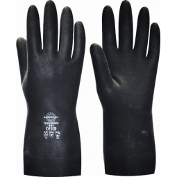 """Перчатки химостойкие """"ТЕХНОПРЕН"""" (неопрен, хлопковый слой, толщ.0,75мм, дл.300мм.)"""