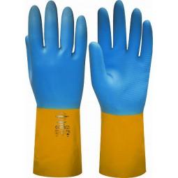 """Перчатки химостойкие """"НЕОЛАТ"""" (неопрен и латекс, хлопковый слой, толщина 0,70мм, длина 320мм)"""