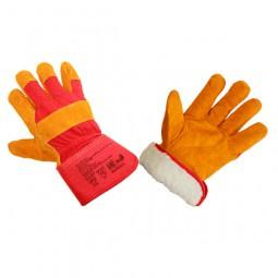 Перчатки утепленные комбинированные спилковые
