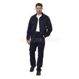 "Костюм ""Умелец 1"": куртка+брюки, цв. синий/св. серый"