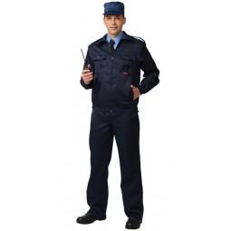 """Костюм """"АЛЬФА"""": куртка+брюки, цв. чёрный"""