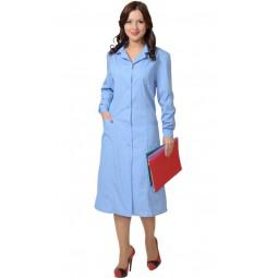 Халат женский с рельефами, цв. голубой