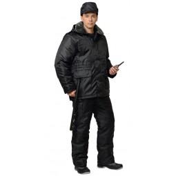 """Костюм утепленный """"Безопасность"""": куртка+полукомбинезон, цв. черный"""