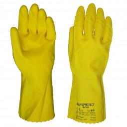 """Перчатки химостойкие """"ЧИСТОТА"""" (латекс, хлопковый слой, толщ.0,38мм,дл.300мм.)"""