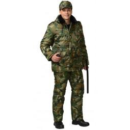 """Костюм утепленный """"Безопасность"""": куртка+полукомбинезон, цв. КМФ зеленый"""