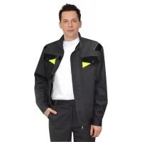 """Куртка """"ХОВАРД"""", цв. т.-серый с черной и лимонной отделкой,тк. Rodos пл. 245 гр./кв.м"""