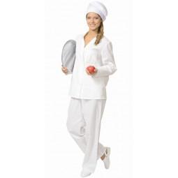 Костюм повара женский: куртка+брюки, цв. белый