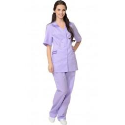 """Костюм женский """"ЖЕНЕВА"""": куртка+брюки, цв. сиреневый с фиолетовым"""