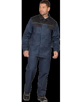 """Костюм """"Артель"""": куртка + брюки, цв. т.синий-черный"""
