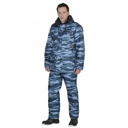 """Костюм утепленный """"Безопасность"""": куртка+полукомбинезон, цв. КМФ серый вихрь"""