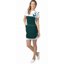 "Фартук-сарафан ""ВЕСНА"", цв. зелёный с белым"