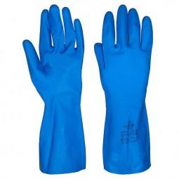 """Перчатки химостойкие """"КЛИНХОУМ"""" (каучук, хлопковое покрытие, толщ.0,40мм, длина 300мм)"""