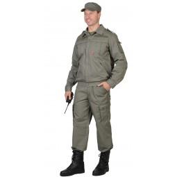 "Костюм ""ТАЙФУН"": куртка+брюки, цв. олива тк.Rodos 245г/м2"