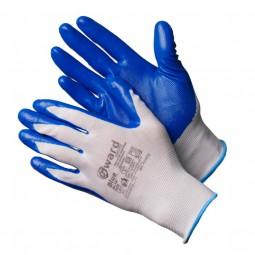 """Перчатки нейлоновые """"Gward Blue"""" с нитриловым покрытием, р-р 09(L), упак.12/600пар"""