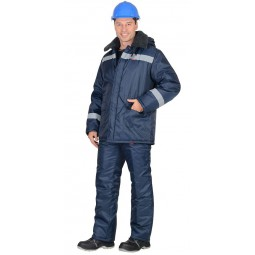 """Куртка утеплённая """"СЕВЕР-4"""" цвет: т. синяя, тк.Оксфорд"""