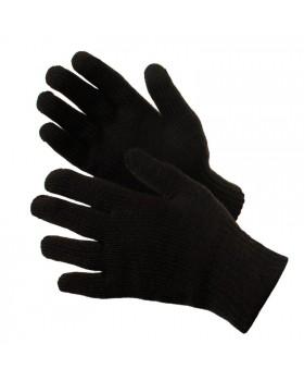 Перчатки утепленные трикотажные полушерстяные одинарные