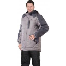 """Куртка утепленная """"ЕНИСЕЙ"""", цв. светло-серый с серым"""