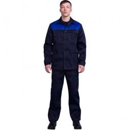 """Костюм """"Дамаск/Стандарт"""": куртка+брюки, цв. т-синий/васильковый"""