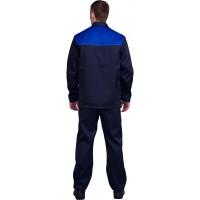 """Костюм """"Дамаск/Стандарт/Аскет"""": куртка+брюки, цв. т-синий/васильковый без усиления"""