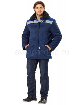 "Куртка утепленная ""Бригада-АС"" цв.т.-синий/василек с СОП 50мм"