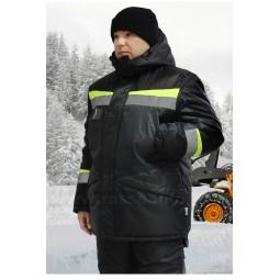 """Костюм утеплённый """"Градус"""": куртка+полукомбинезон, цв. серый/черный/лимонный, СОП 50мм"""